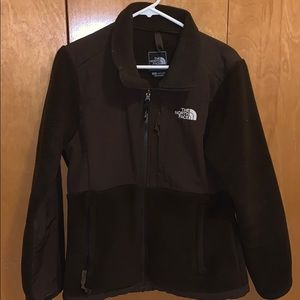 Brown North Face Fleece Jacket